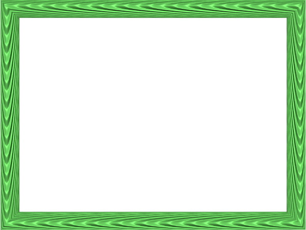 Green border png. Colorful frames and borders
