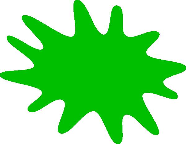 Paint splat clip art. Green clipart