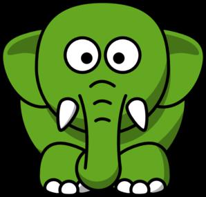 Elephant clip art at. Green clipart