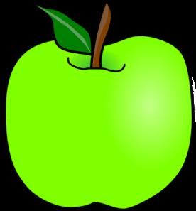 Green clipart. Delicious apple clip art