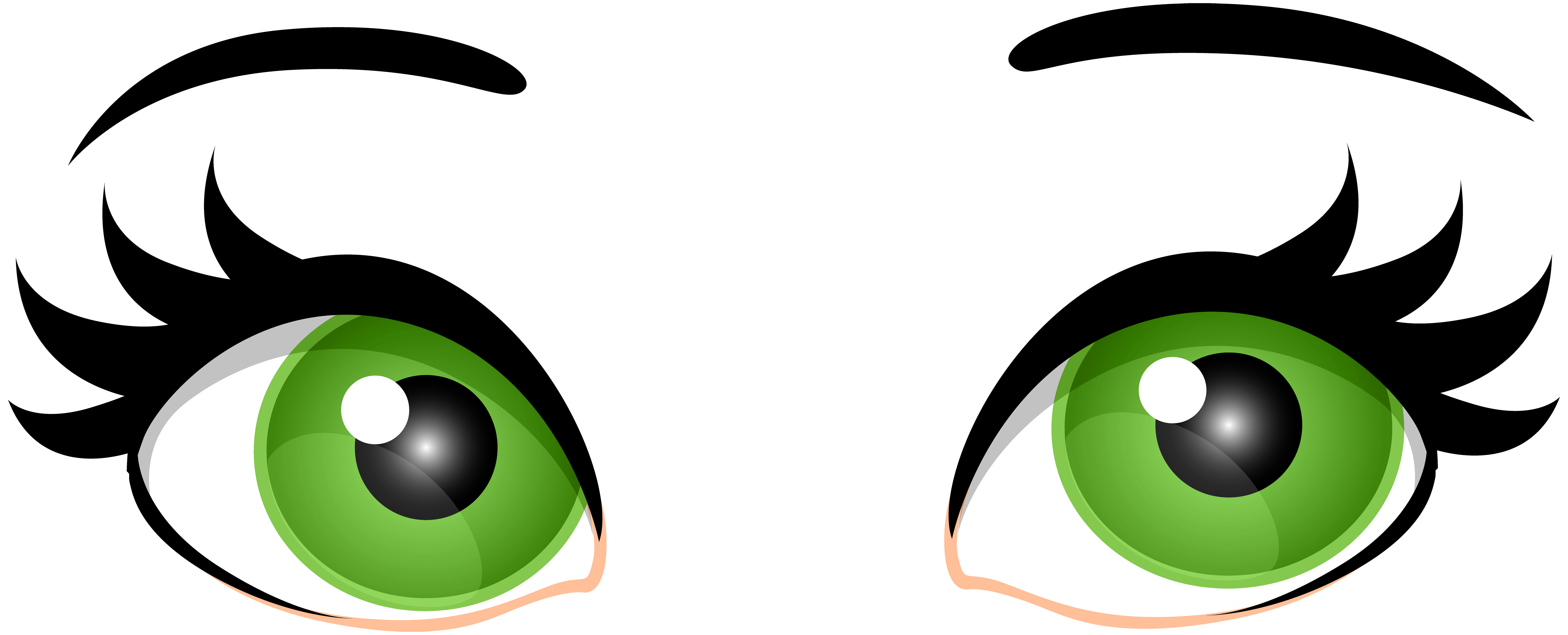 Picture clipart green. Female eyes png clip