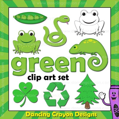 Green clipart. Things that are color