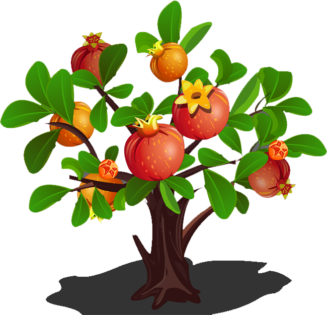 Pomegranate clipart branch. Tree clip art transprent