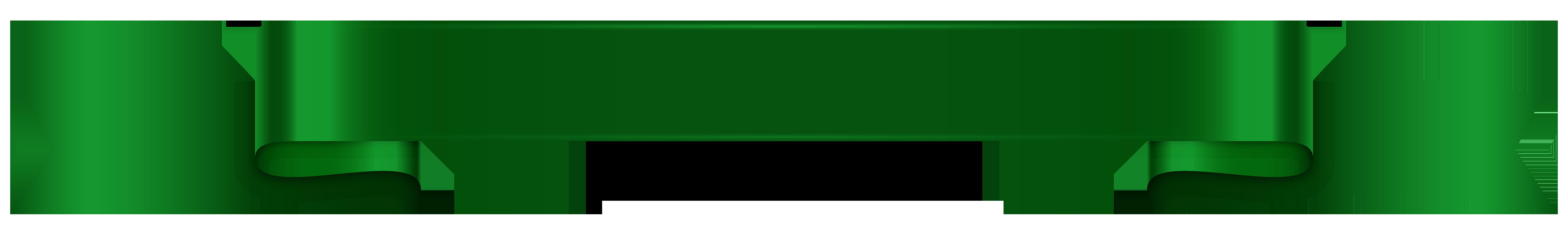 Transparent png clip art. Green clipart banner