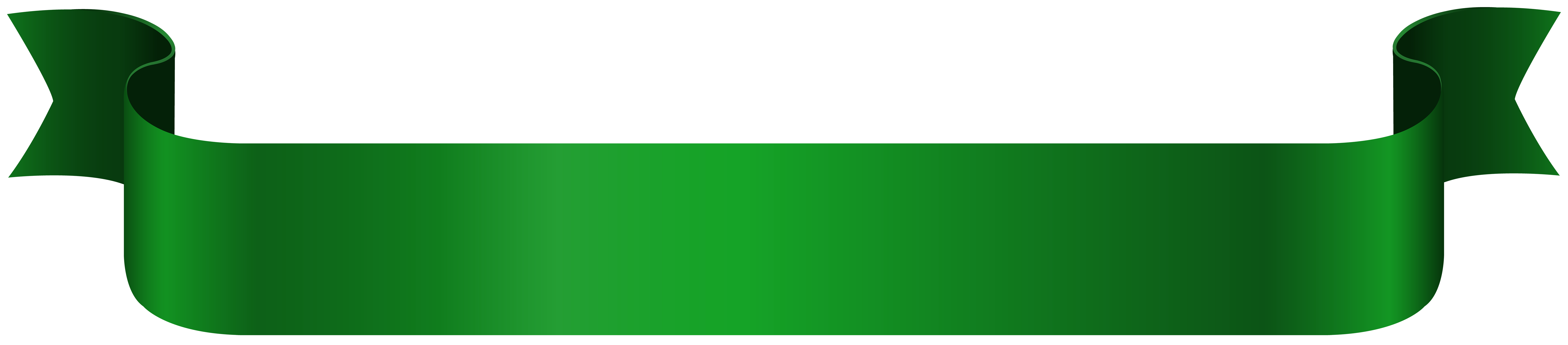 Green clipart banner. Png clip art image