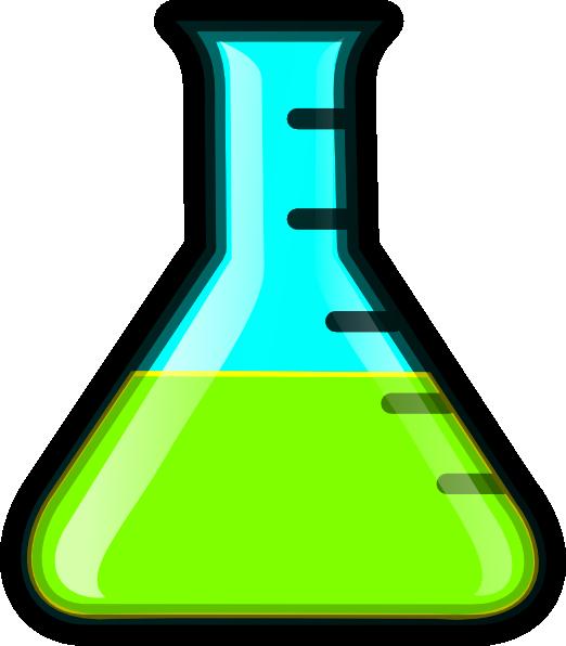 Flask clip art at. Green clipart beaker