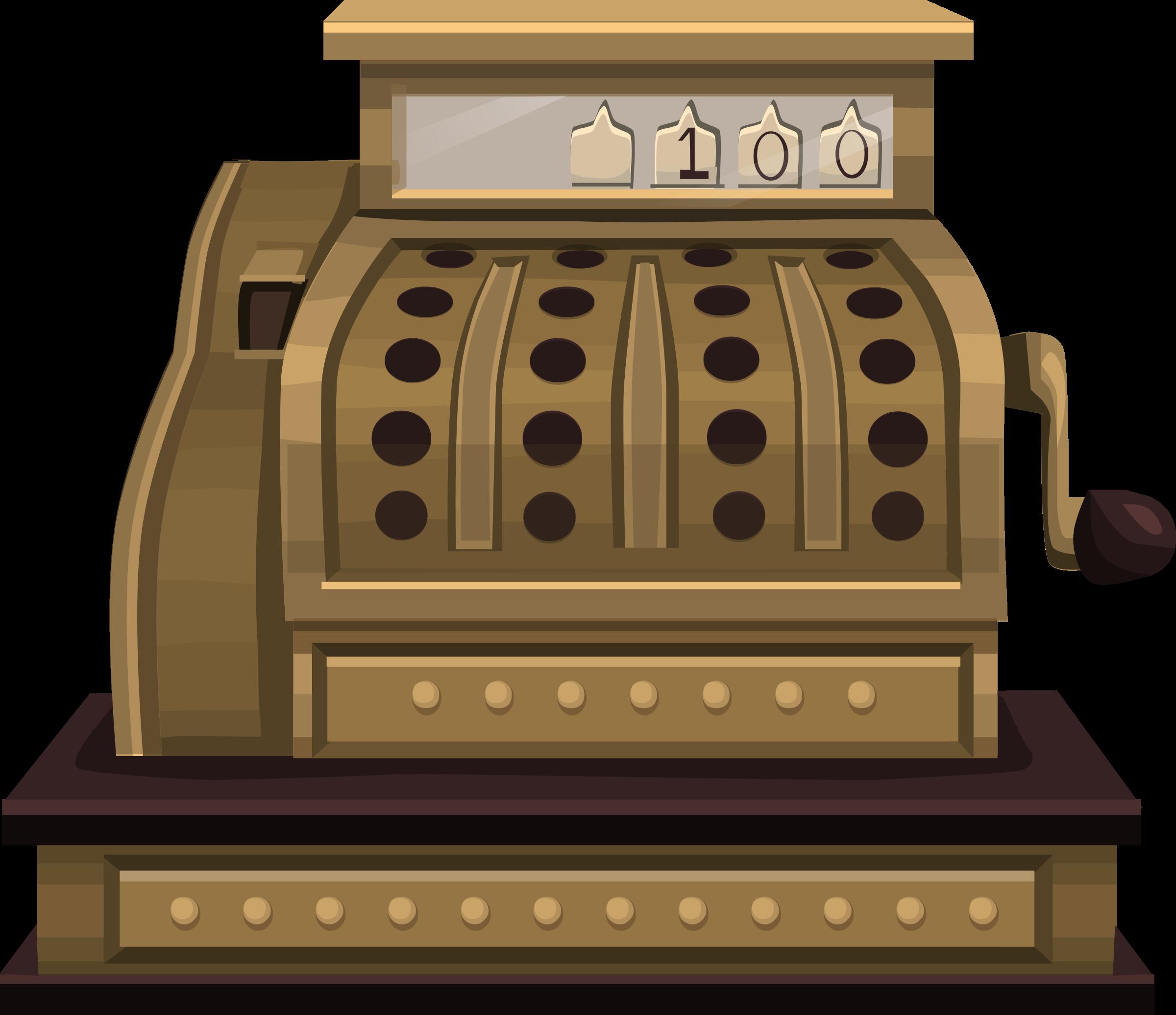 Steampunk clipart architecture. Cash register from glitch