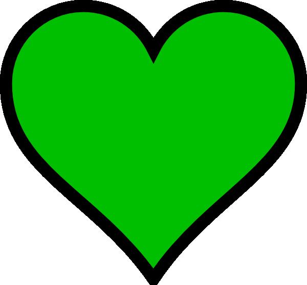 Green heart clip art. Hearts clipart crayon