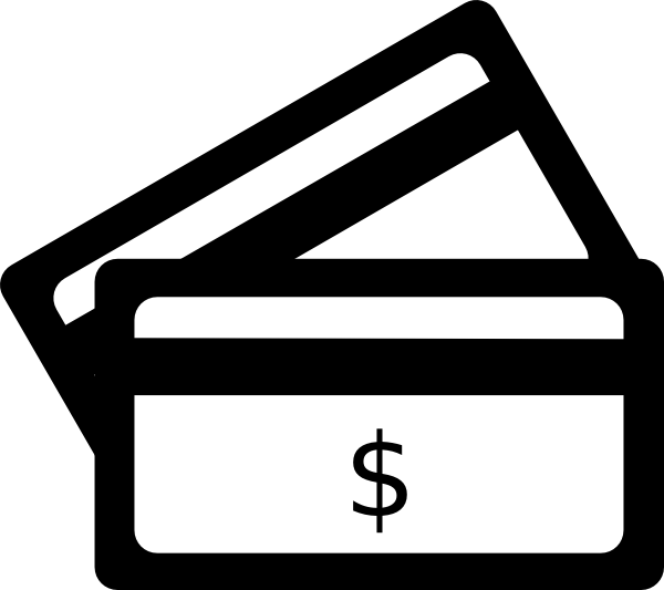 wallet clipart credit