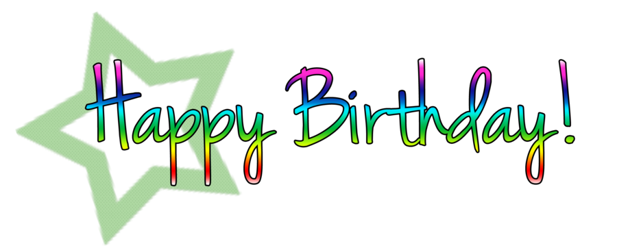green clipart happy birthday