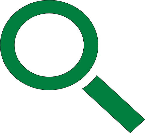 green clipart magnifying glass