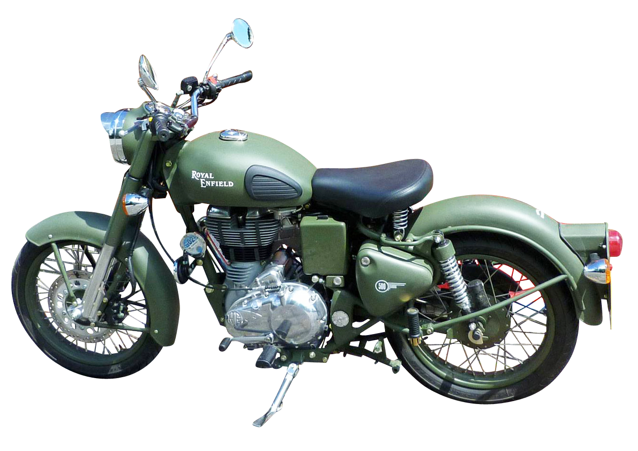 Royal enfield png images. Green clipart motorbike