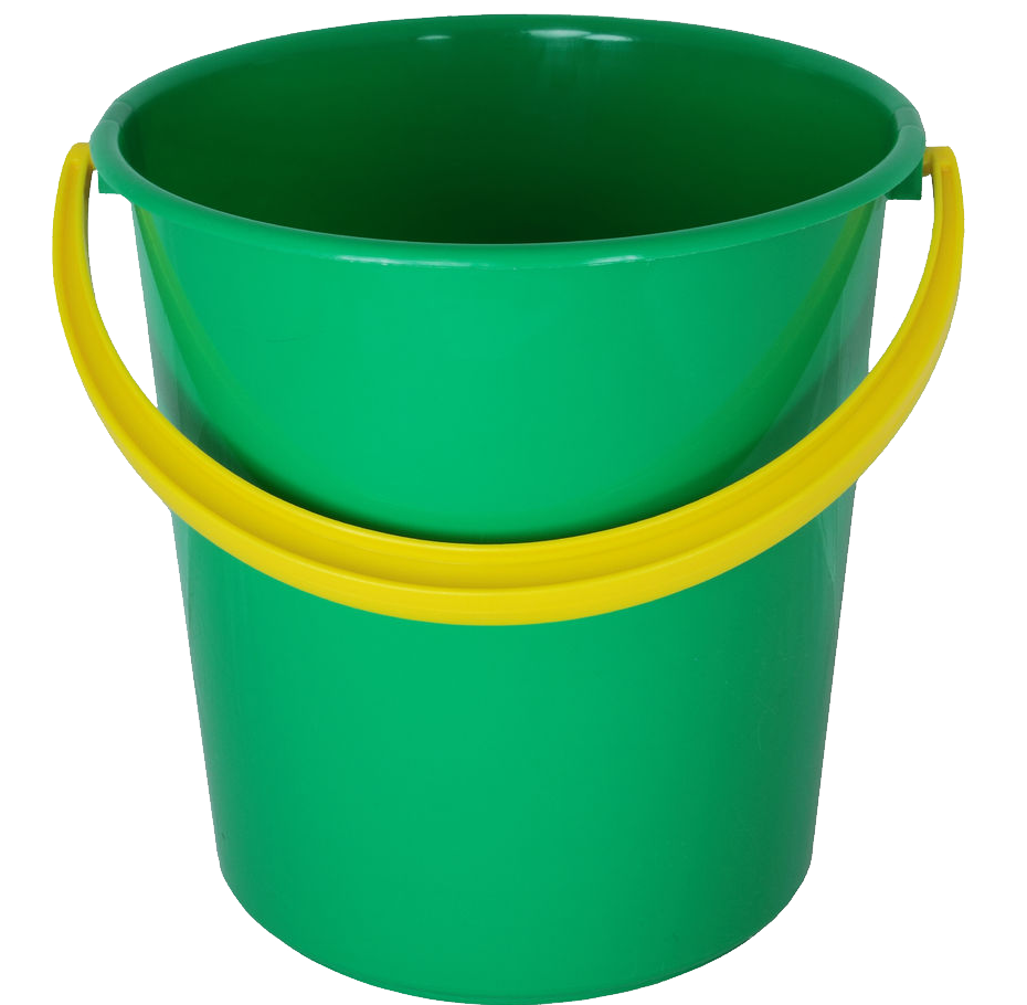 Plastic bucket png image. Green clipart pail