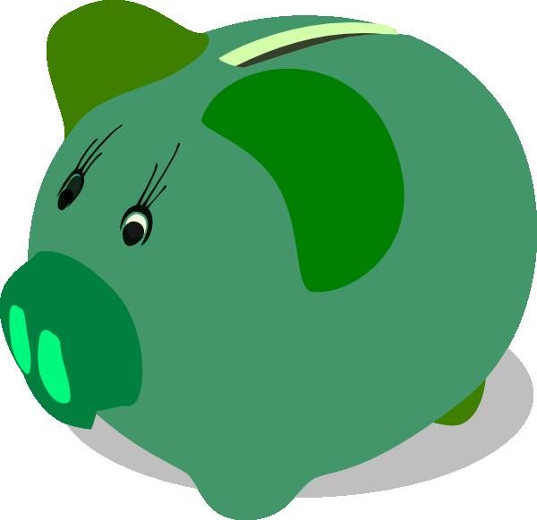 Green piggy bank clip. Manatee clipart canola