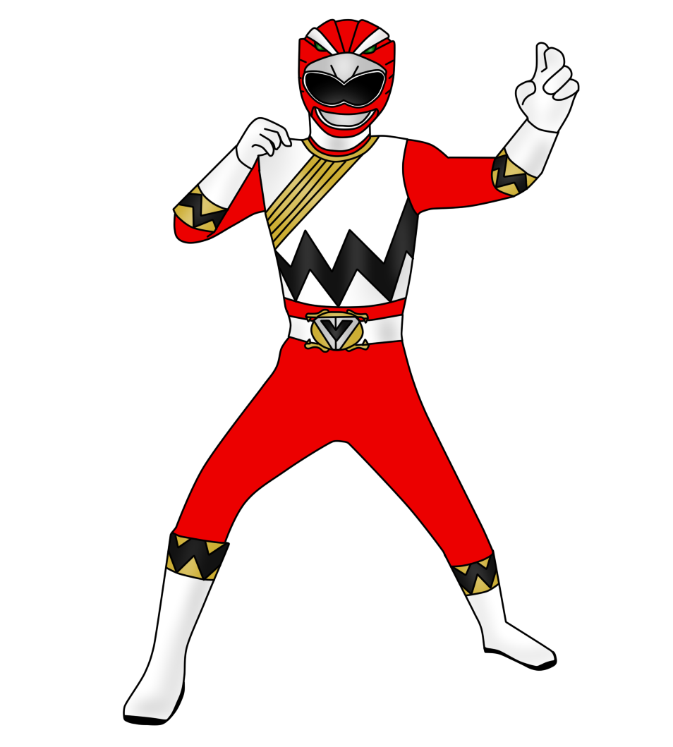 red clipart power rangers #140594452