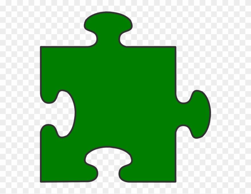 Puzzle clipart green. Blue border piece top