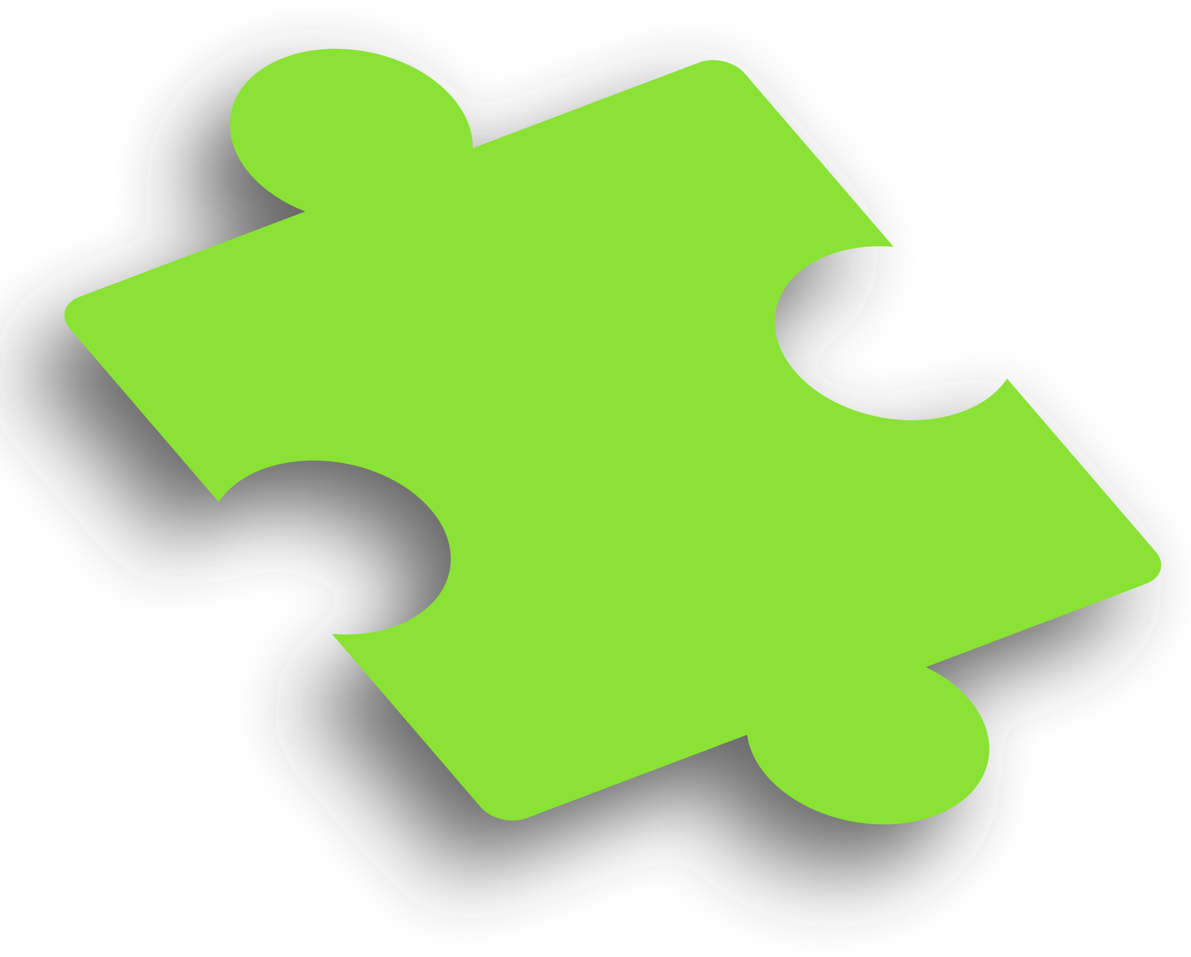 Piece green. Puzzle clipart business