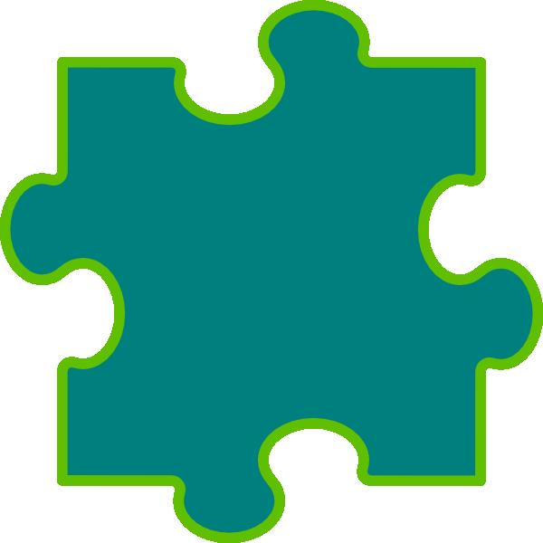 Puzzle clipart 6 piece. Blue green clip art