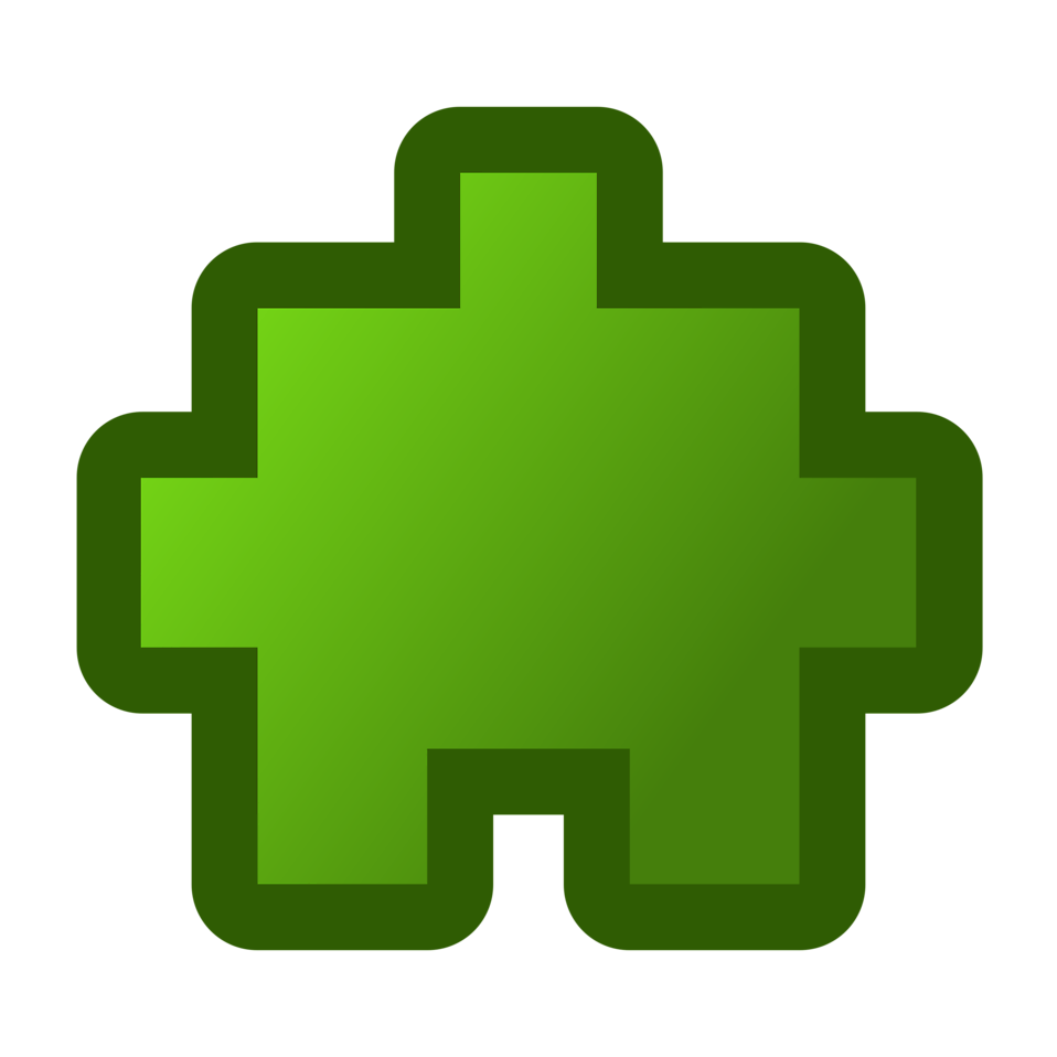 Free stock photo illustration. Puzzle clipart green