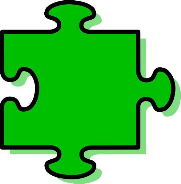 Puzzle clipart green. Piece clip art at
