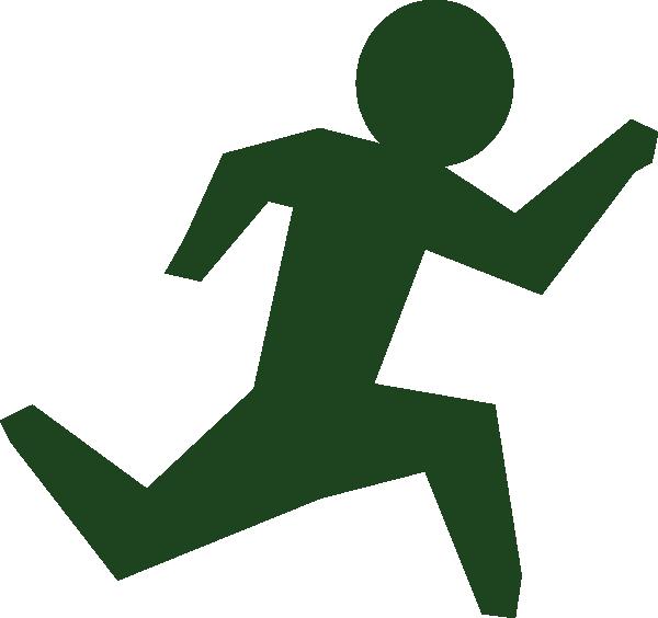 Running man race clip. Men clipart green