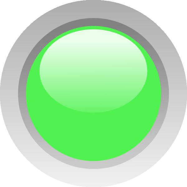 Green circle clip art. Holidays clipart led light