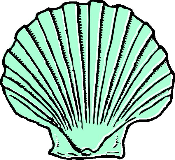 green clipart seashell