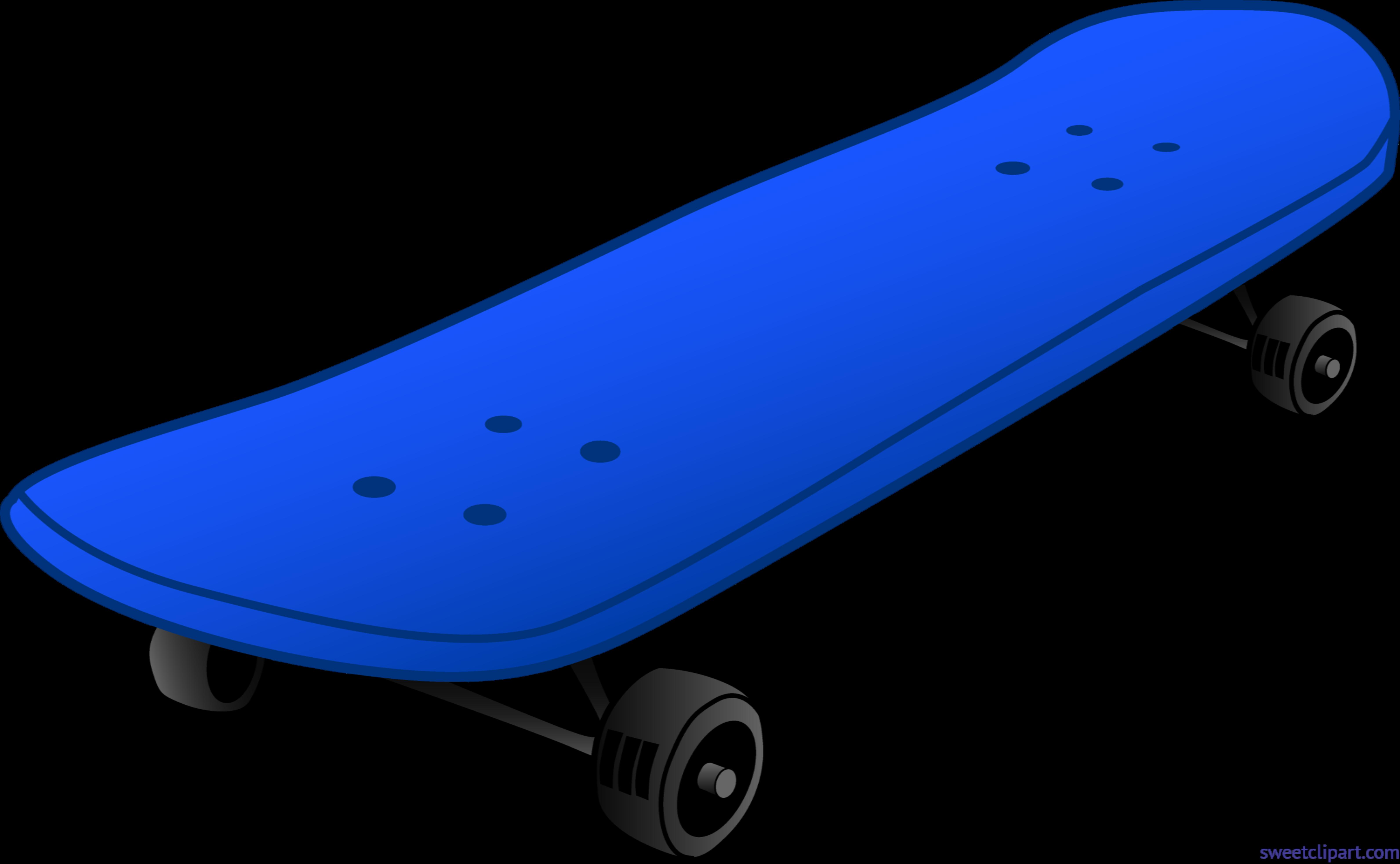 Young clipart scateboard. Skateboard blue clip art