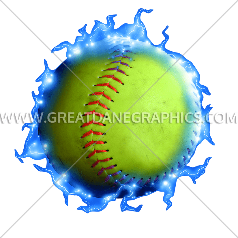 Lightning production ready artwork. Softball clipart green