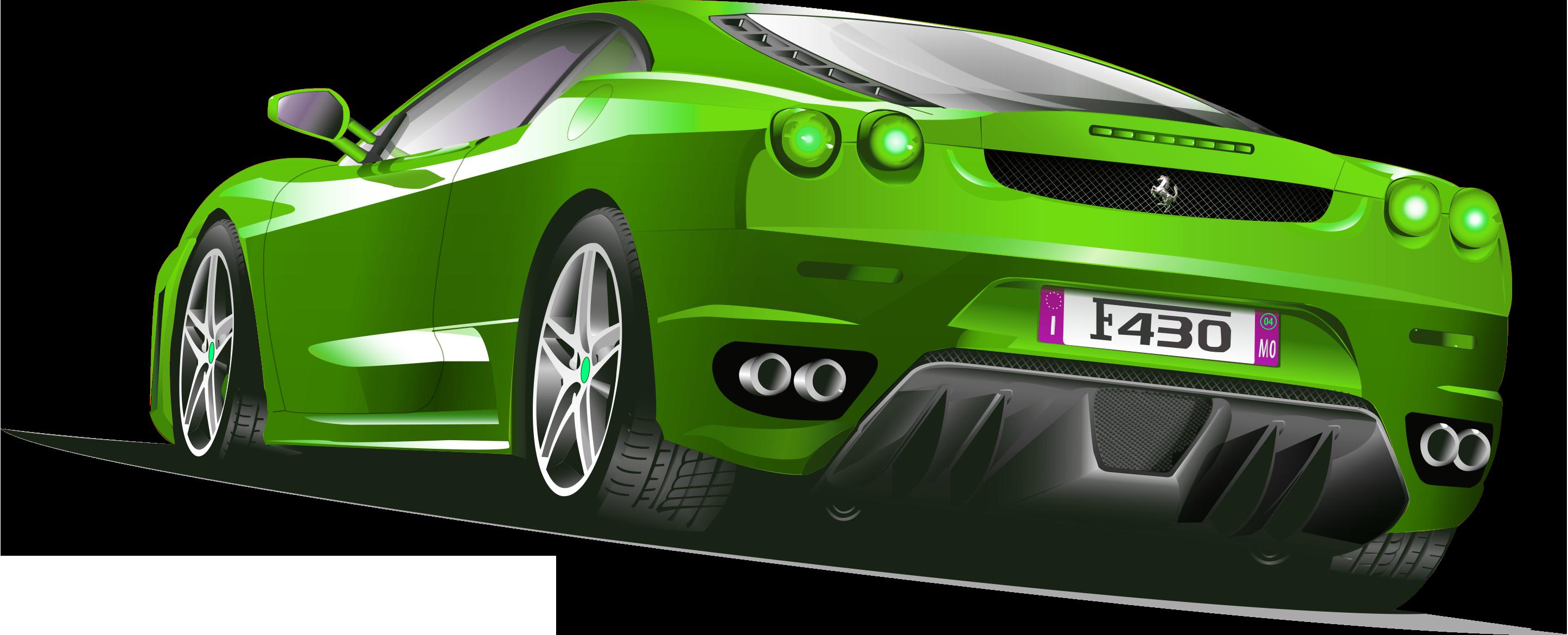 Ferrari clip art transprent. Green clipart sports car