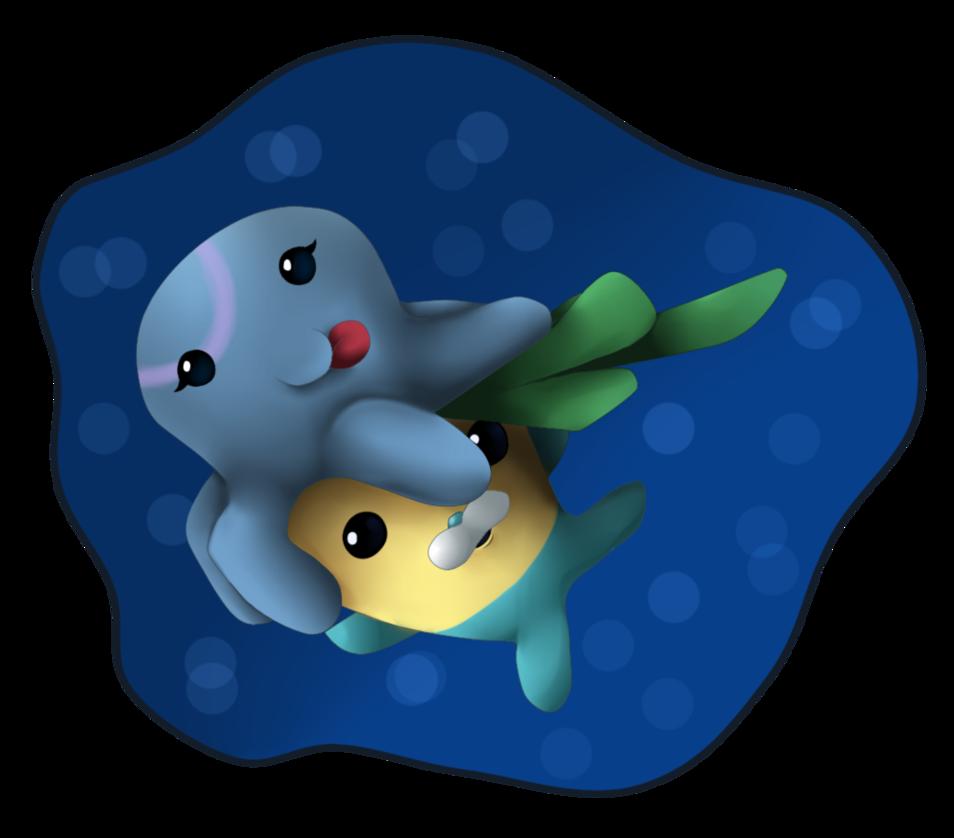 Tunip and a octonauts. Green clipart squid