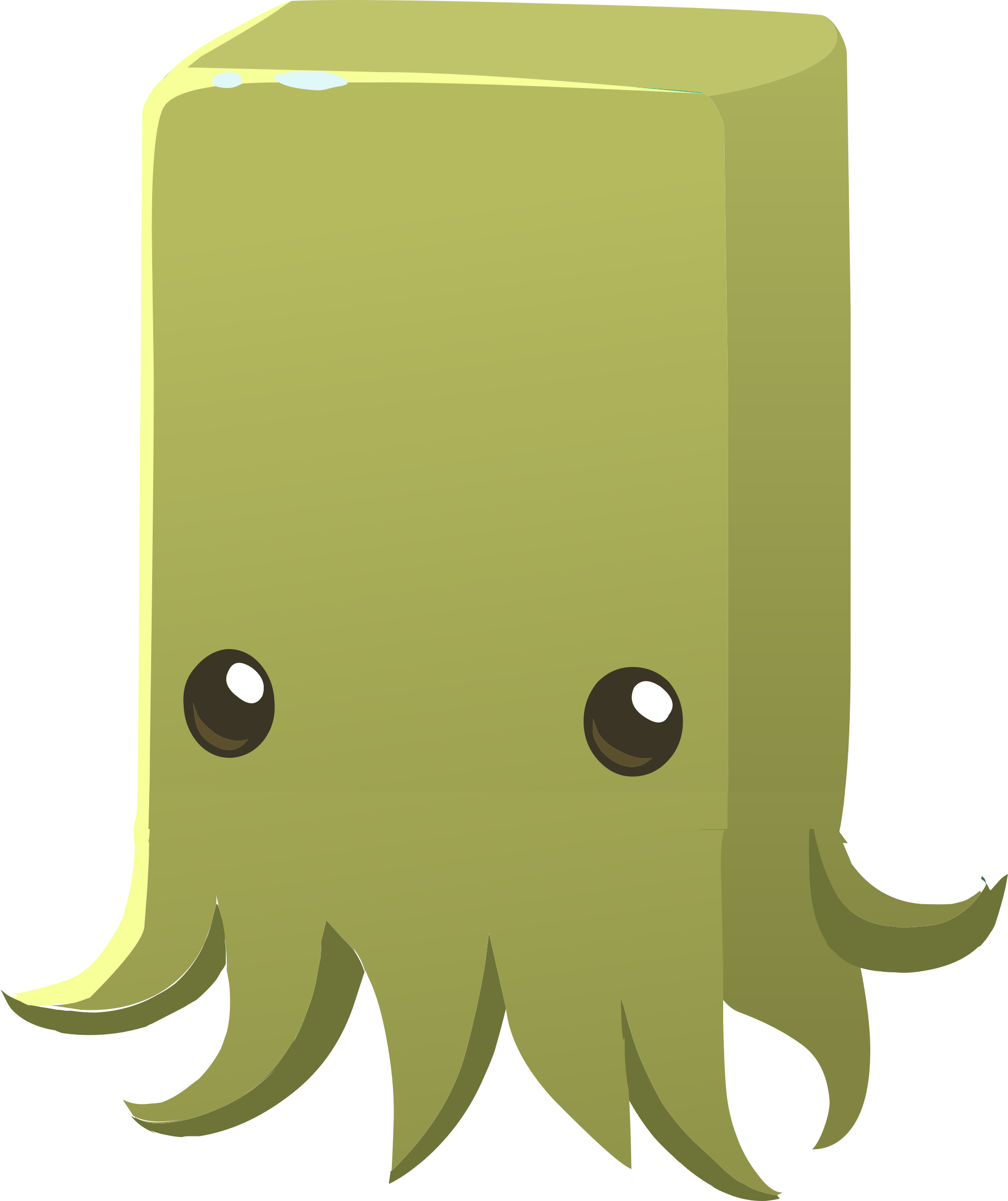 Inhabitants npc big image. Purple clipart squid