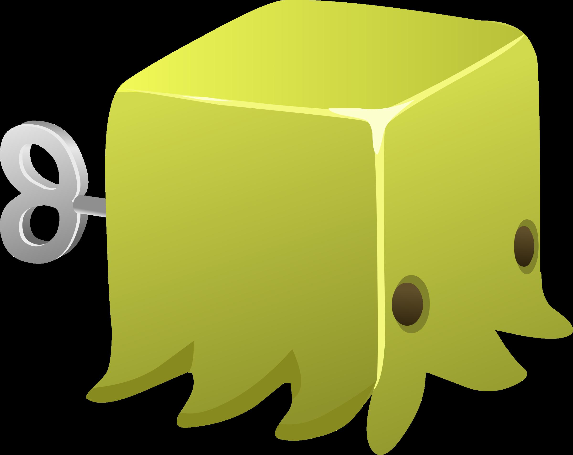 Cubimal npc big image. Green clipart squid