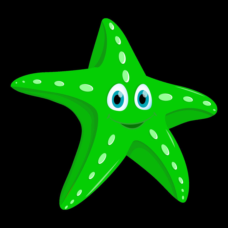 green clipart starfish