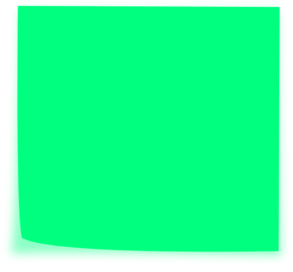 Green clipart sticky note. Clip art at clker