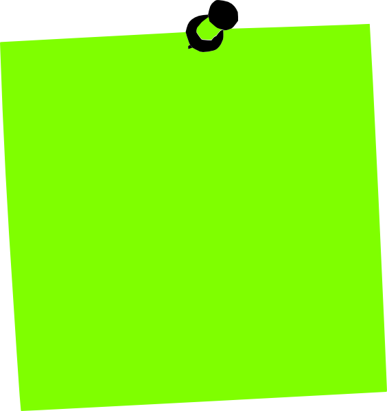 Post it clip art. Green clipart sticky note