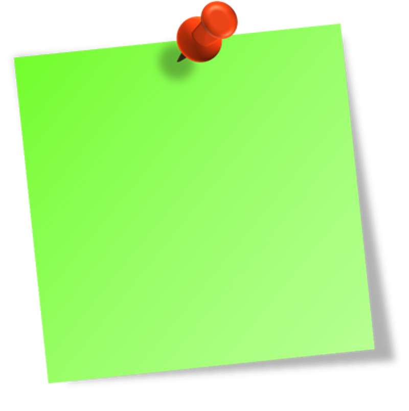 It is all about. Green clipart sticky note
