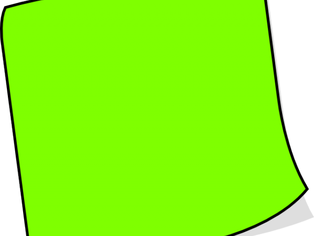 Green clipart sticky note. X carwad net