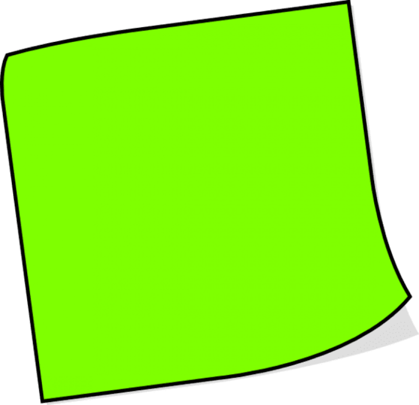 Notes png free images. Green clipart sticky note