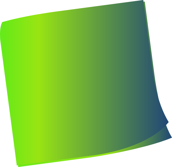 Green clipart sticky note. Shaded clip art at