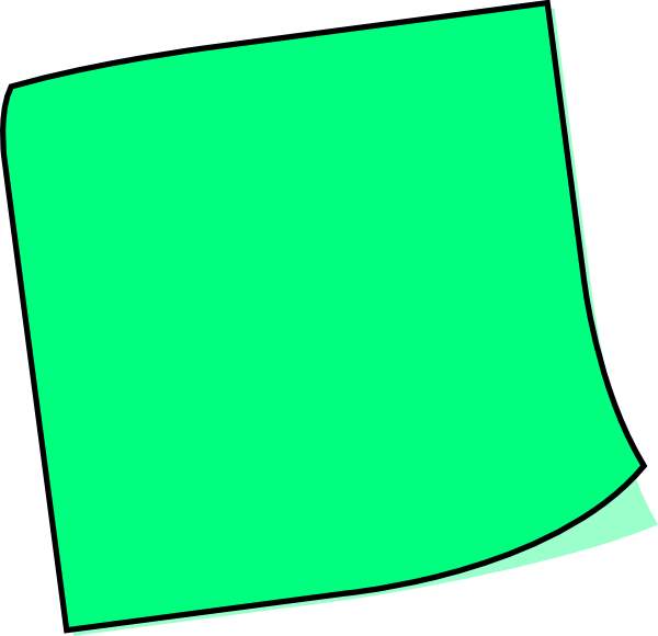 Clip art at clker. Green clipart sticky note