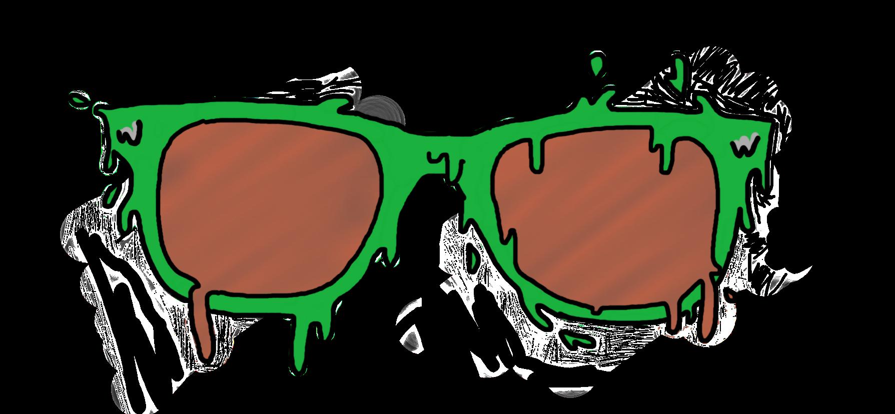 Sunglasses clipart green. Grimeart ftestickers glasses slimeart