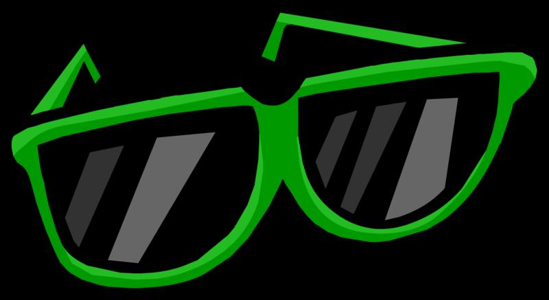 green clipart sunglasses