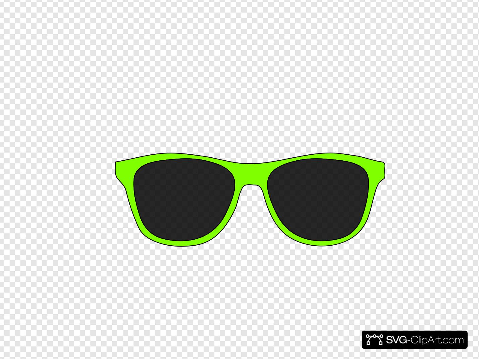 Sunglasses clipart green. Clip art icon and