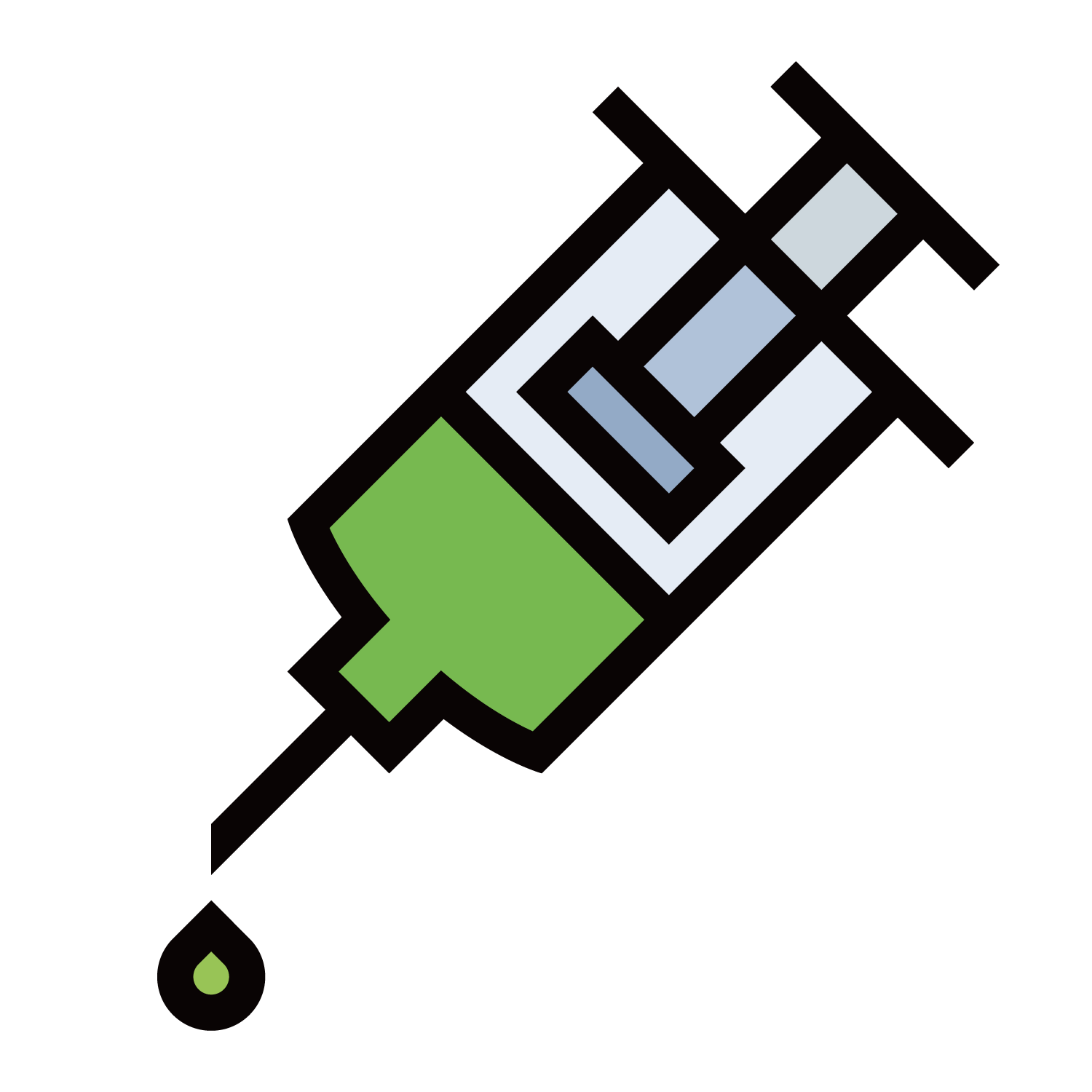 Icon green tube transprent. Patient clipart needle syringe