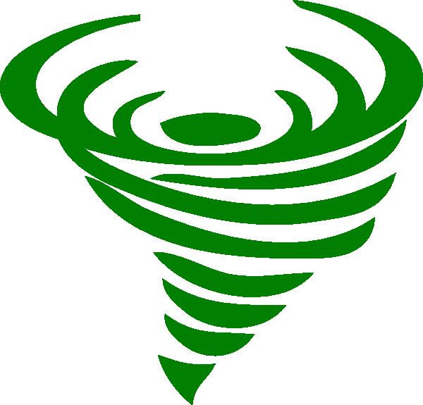 green clipart tornado