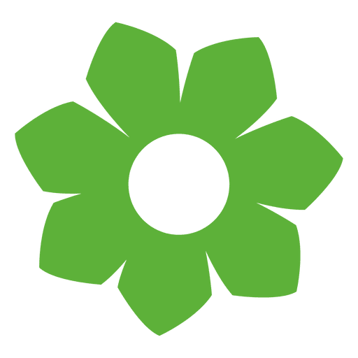 Icon transparent svg vector. Green flower png