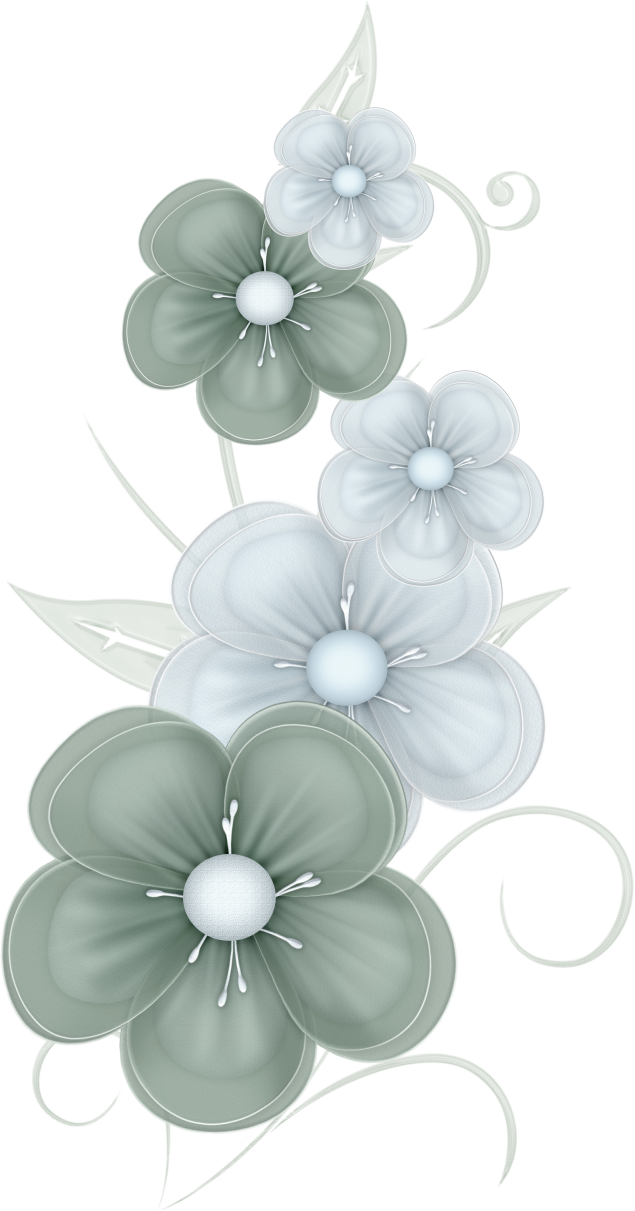 Flowers by pvs pixievamp. Green flower png