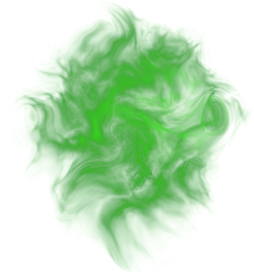Green smoke png.  effect for free
