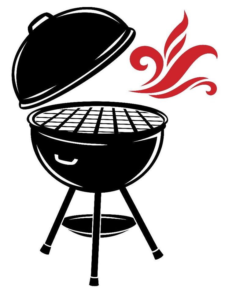 Grilling clipart grille. Free bbq silhouette vector